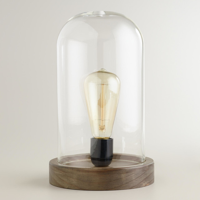 Edison Glass Cloche Table Lamp industrial-table-lamps - Edison Glass Cloche Table Lamp - Industrial - Table Lamps - By