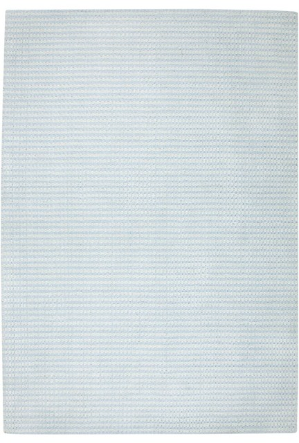 Solid/striped Platoon Area Rug, Rectangle, Light Blue, 8&x27;x10&x27;.