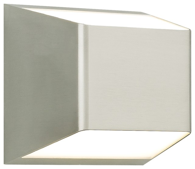 Ebb Outdoor Light, Led, Satin Nickel.
