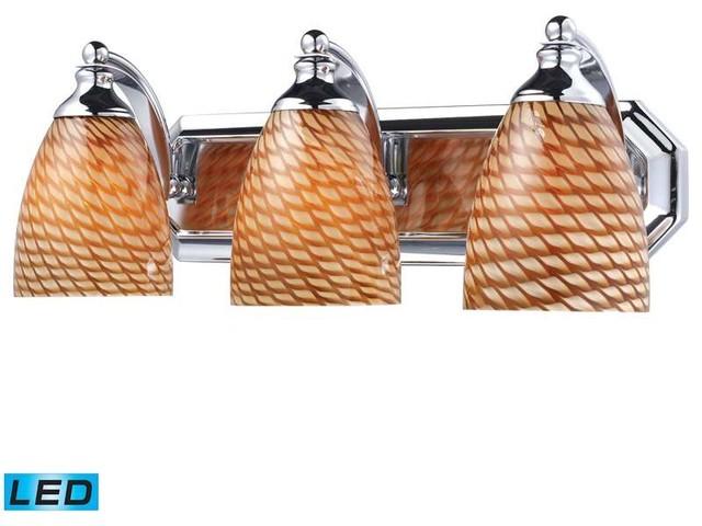 Avalon Polished Chrome Bathroom Vanity Ceiling Lights: Elk Lighting 570-3C-A Vanity Transitional Bathroom Light