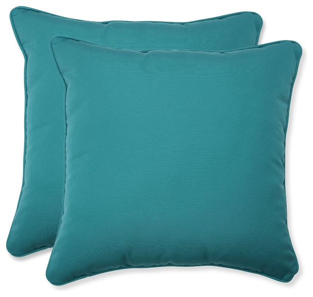 Outdoor Pillows Set Of 2.Outdoor Indoor Fortress Colefax Aquamarine 16 5 Throw Pillows Set Of 2