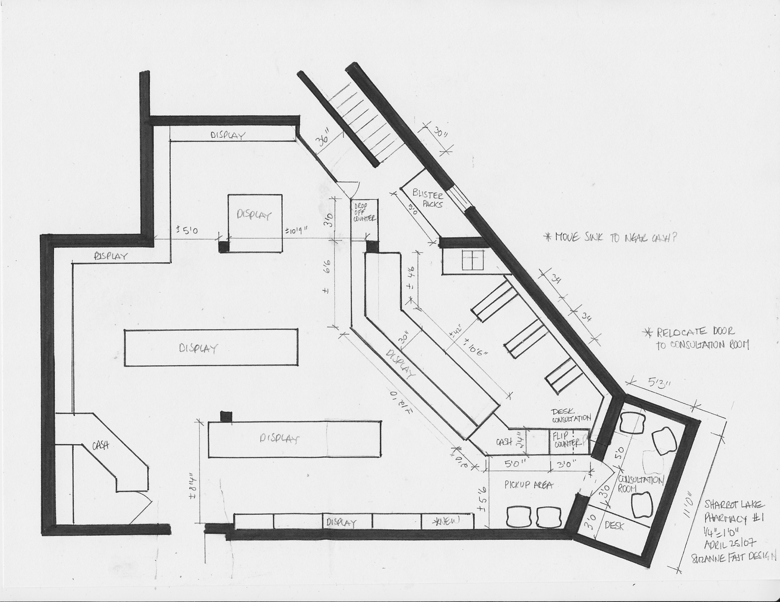 commercial space plan- pharmacy