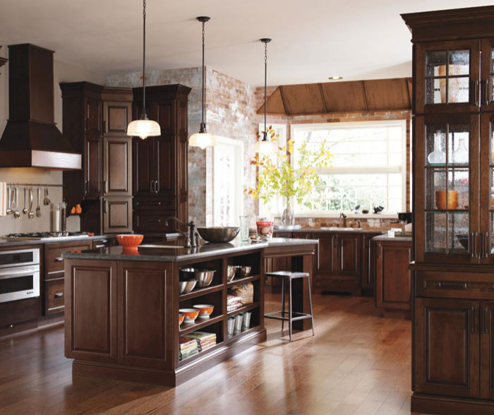 Bailey Cabinets with Black Forest Finish - Diamond Cabinetry