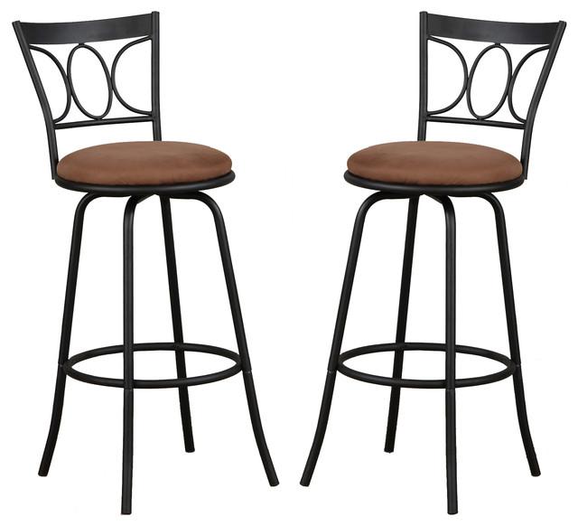 Groovy Metal Adjustable Swivel Microfiber Seat Cushion Pub Stools Set Of 2 Uwap Interior Chair Design Uwaporg