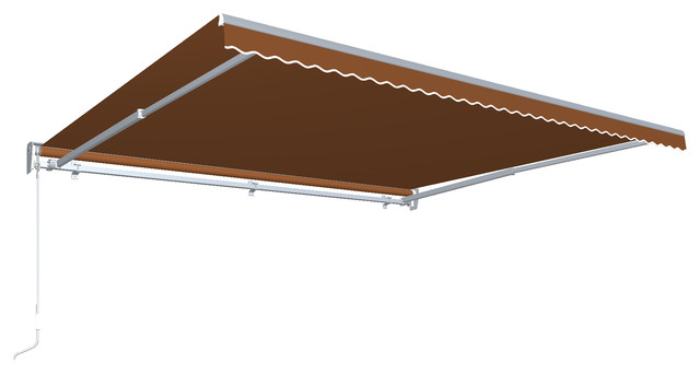 14&x27; Destin With Hood Left Motor/remote Retractable Awning, Terra Cotta.
