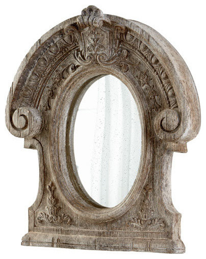 Cyan Design 05957 Inglewood Mirror, Ancient White.