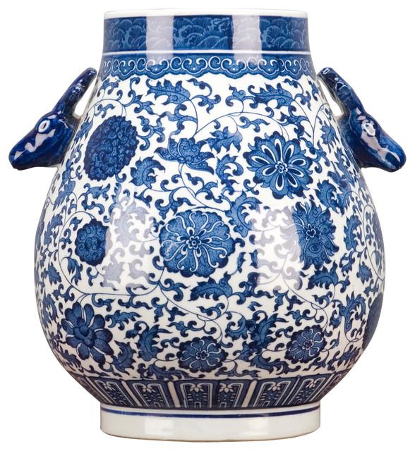 Classic Blue and White Porcelain Vase
