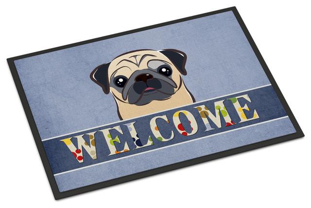Pug Breed of Dog Welcome Floormat Doormat Indoor Use Perfect Gift