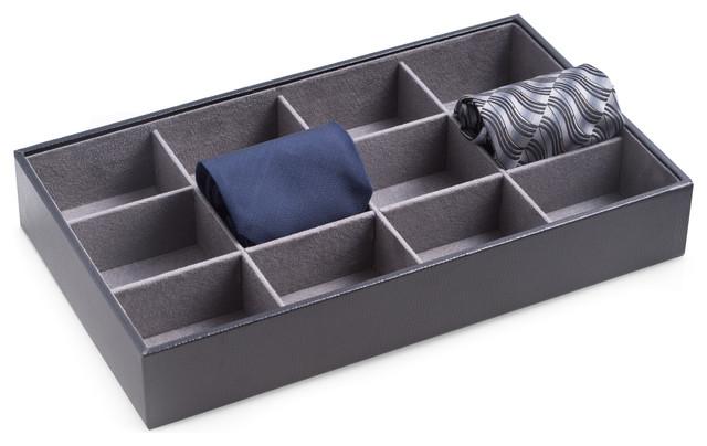 Open Face 12-Tie Storage Case.