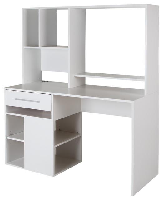 South Shore Annexe Home Office Computer Desk, Pure White.