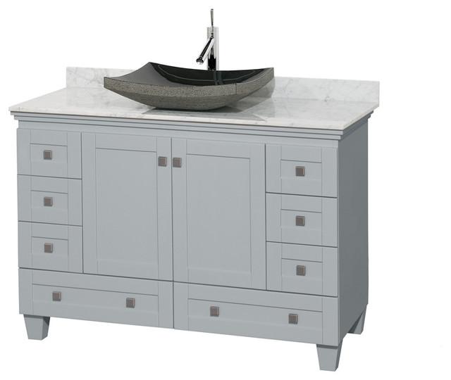 48 bathroom vanity oyster gray contemporary bathroom - Contemporary bathroom vanities without tops ...