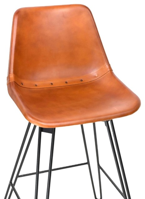 Leather Bucket Chair Bar Height
