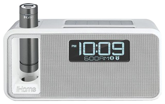 ihome dual charging bluetooth stereo alarm clock radio speakerphone alarm clocks houzz. Black Bedroom Furniture Sets. Home Design Ideas