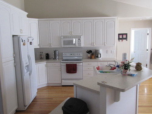 sterile white kitchen   need to add something    rh   houzz com