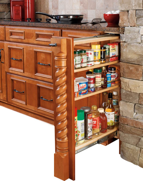 cabinet organizers kitchen rev a shelf 432 bf 6c 6 quot wood base cabinet pullout filler 12989