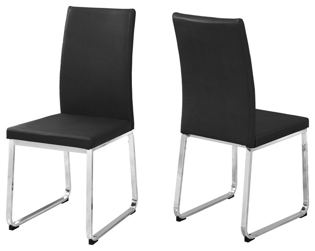 monarch specialties dining chair 2 piece set 38h gray leather. beautiful ideas. Home Design Ideas