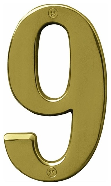 5 Brass House Numbers