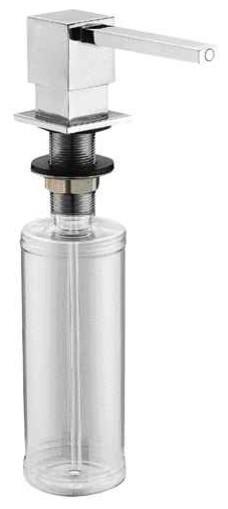 Aquamoon Square Kitchen Soap Dispenser Contemporary Soap And Lotion  Dispensers