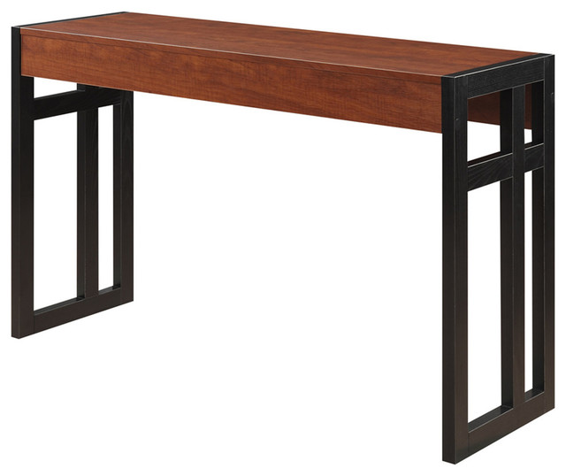 Monterey Console Table, Black And Cherry, Black/Cherry