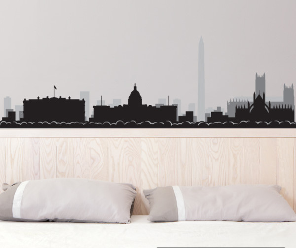 Washington Dc Skyline Vinyl Wall Decal Or Car Sticker Ss081ey Contemporary Decals By Disorder Inc
