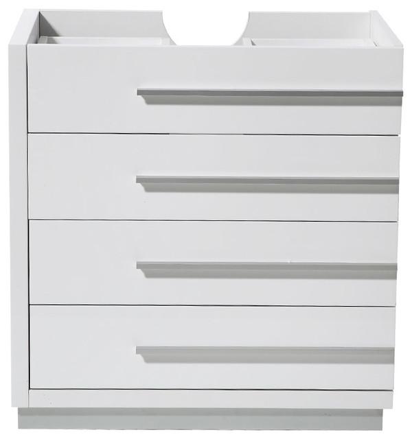 Fresca Livello 30 White Modern Bathroom Cabinet.
