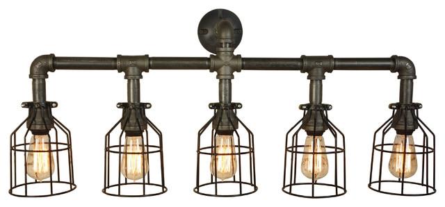 Farmhouse Vanity Five Light