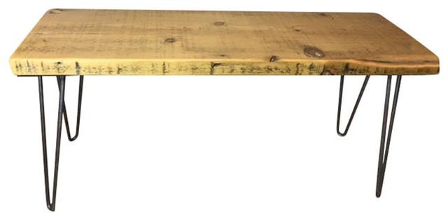 Urban Loft Reclaimed Wood Console Table, 12x48x18, Beeswax.