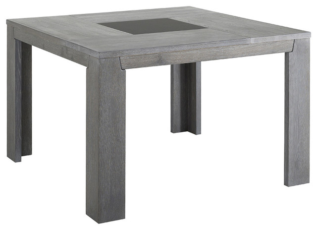 Parisot Titan Gray French Oak Square Dining Table