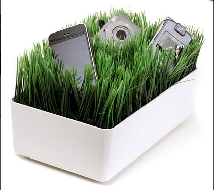 Grassy Lawn Charging Station eclectic home electronics