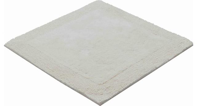 Luxor Square Toilet Mat, Natural White