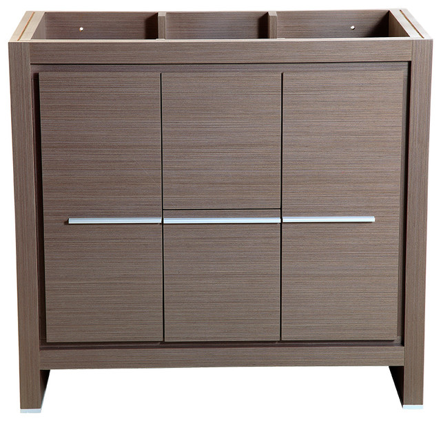 "Fresca Allier 36"" Gray Oak Modern Bathroom Cabinet."