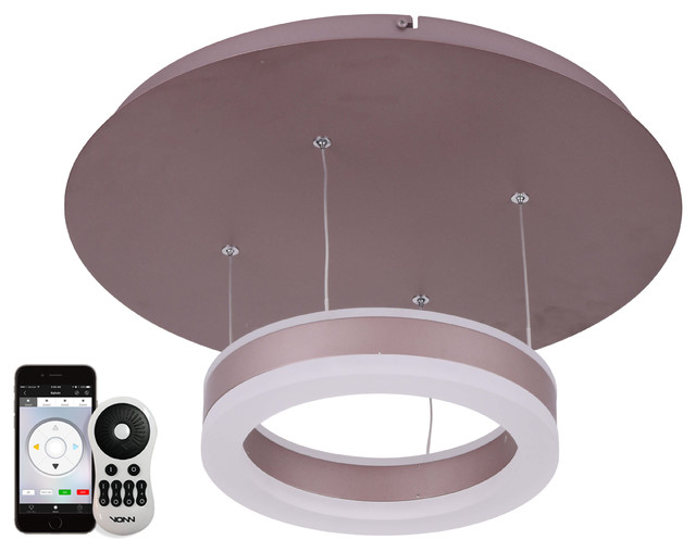 "Europa 11"" Wifi-Enabled Tunable White Color-Changing Led Pendant Ceiling Fixture."