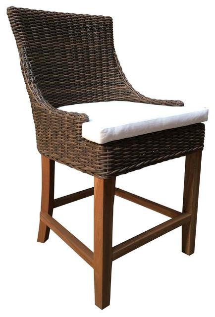 Tremendous Outdoor Alfresco Counter Stool Crocodile Rattan Camellatalisay Diy Chair Ideas Camellatalisaycom