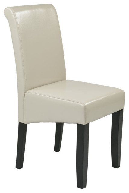 metro parsons chair with espresso legs contemporary dining chairs