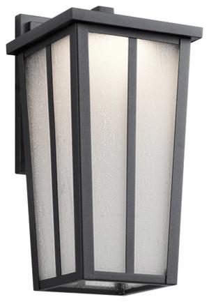 "Outdoor Wall 1-Light Led, 6.5""x7.5""x13""."