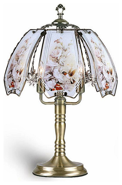 "23.5"" Touch Lamp, Hummingbird."