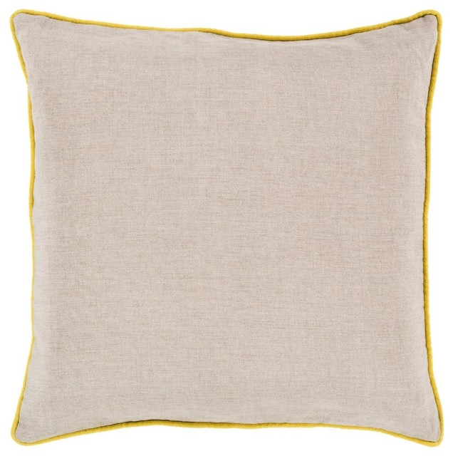 Shop Houzz Surya Solid/Striped Linen Piped Decorative Pillow - Decorative Pillows