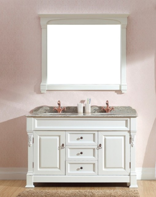 White Vanities   Taurus 1400mm Freestanding Vanity Traditional Bathroom  Vanities