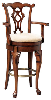 Powell Jamestown Landing Swivel Arm Bar Stool