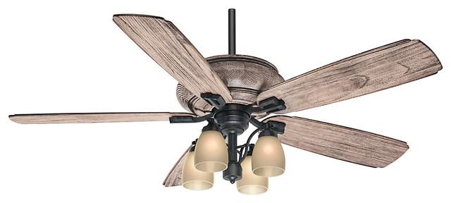 Heathridge 4 light indoor ceiling fan aged steel craftsman casablanca 60 heathridge tahoe ceiling fan with light and wall control aloadofball Image collections