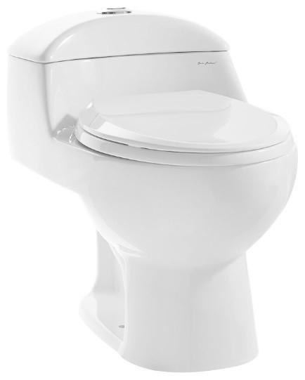Chateau 1-Piece Elongated Toilet, Dual Flush, 0.8/1.28 gpf