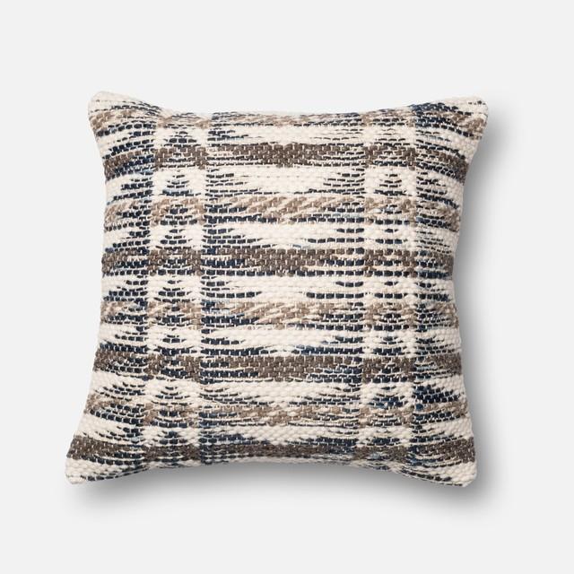"Loloi Inc. Pillow, Gray And Multi, 22""x22""."