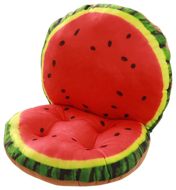 Creative Simulation of Watermelon Fruit Chair Cushion Funny Cushion