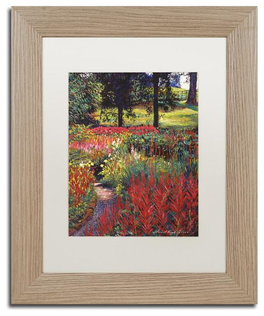 "David Lloyd Glover &x27;nature&x27;s Dreamscape&x27; Art, Birch Frame, 11""x14"", White Matte."