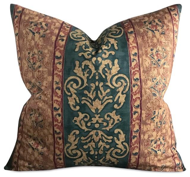 40x40 Multicolor Paisley Decorative Pillow Mediterranean Interesting Multi Color Decorative Pillows