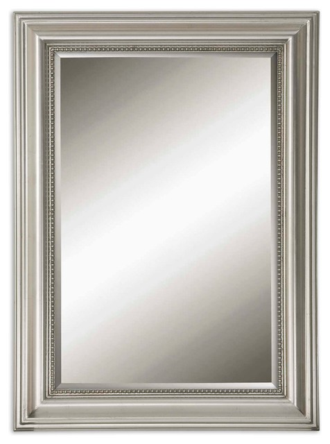 Uttermost Stuart Beaded Mirror Transitional Wall Mirrors by