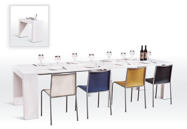 Prime Versus Doreen Modern White Extendable Dining Table Short Links Chair Design For Home Short Linksinfo