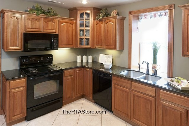 Rustic Hickory Cabinets - Traditional - Kitchen Cabinetry - Other - by ...