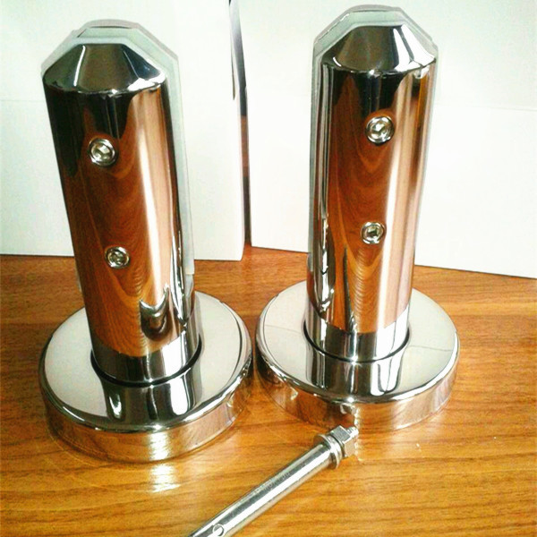 316 stainless steel base plate glass spigot with Passivation treatment anti rust