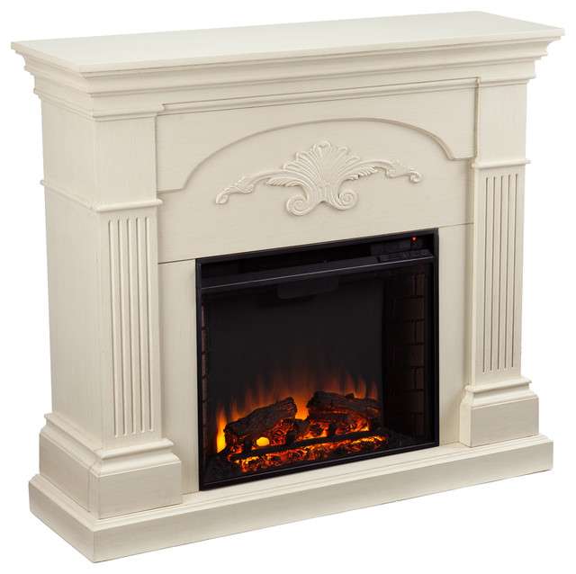 Italia Electric Fireplace Ivory Indoor Fireplaces By SEI